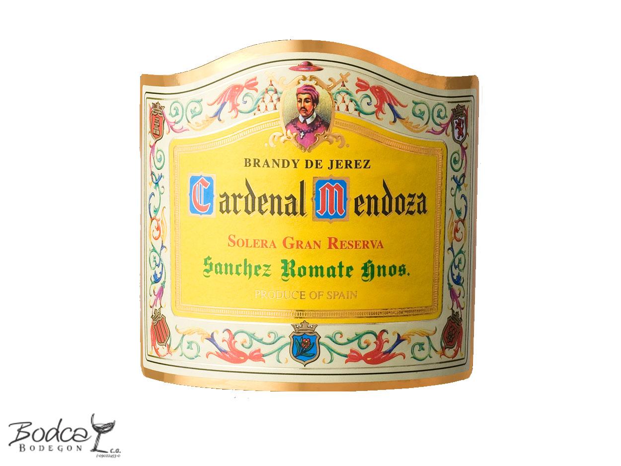 Etiqueta Cardenal Mendoza cardenal mendoza Brandy de Jerez Cardenal Mendoza, Solera Gran Reserva Cardenal Mendoza etiqueta