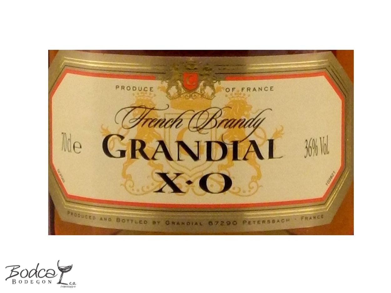 Etiqueta Grandial X.O