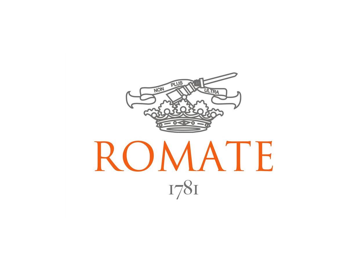 Romate_Logo cardenal mendoza Brandy de Jerez Cardenal Mendoza, Solera Gran Reserva Romate Logo
