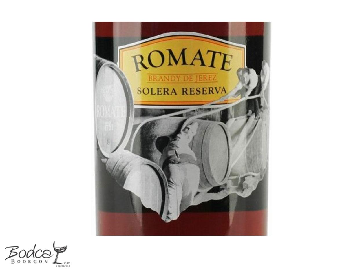 Etiqueta Romate Solera Reserva Romate Solera Reserva Brandy de Jerez Romate Solera Reserva Romate Solera Reserva etiqueta