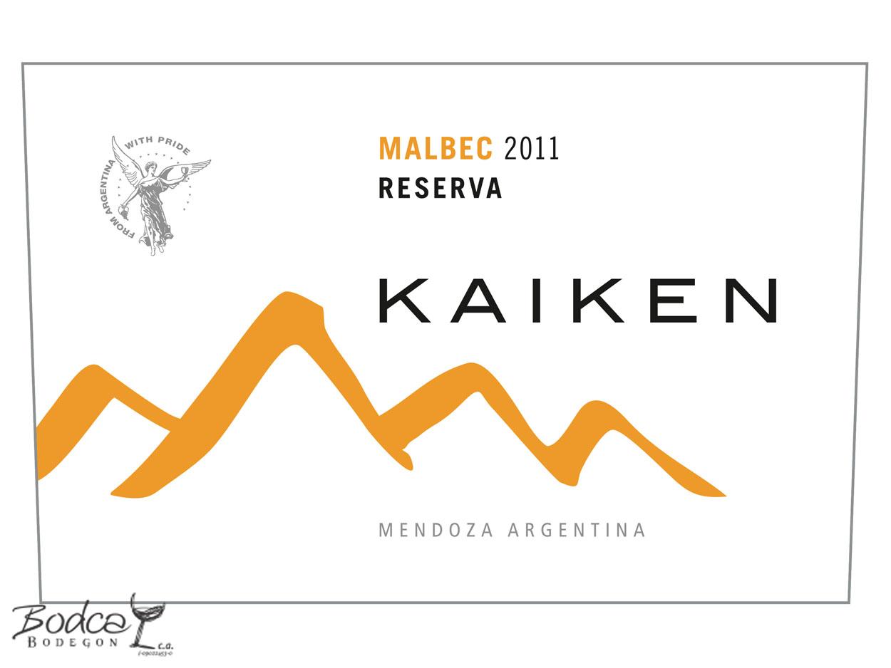 Kaiken_reserva_malbec_etiqueta Kaiken Reserva Malbec Vino Tinto Kaiken Reserva Malbec 2011 Kaiken reserva malbec etiqueta
