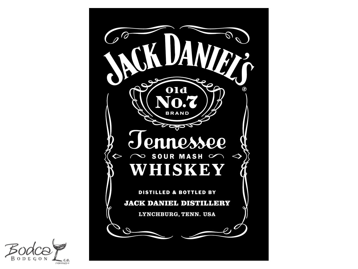 Jack Daniel's Old Nº7 etiqueta old nº7 Whisky Jack Daniel's Old Nº7 Jack Daniels 7 etiqueta