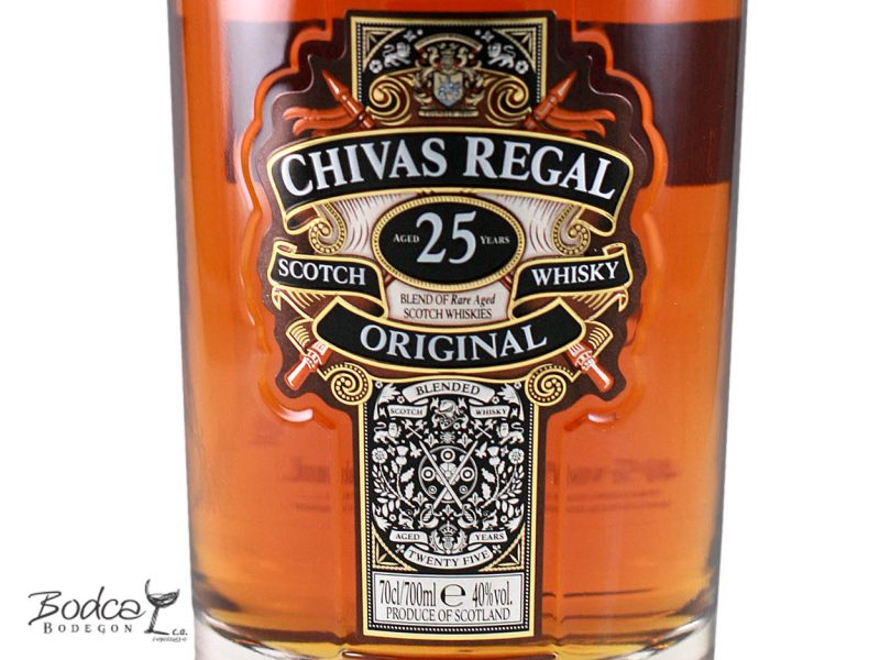 Chivas Regal 25 años etiqueta