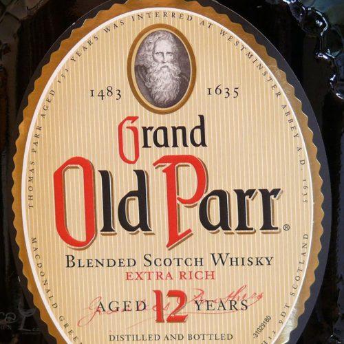 Old Parr 12 años etiqueta