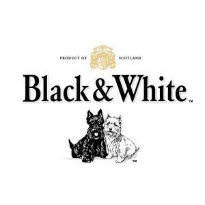 Whisky Black & White - etiqueta