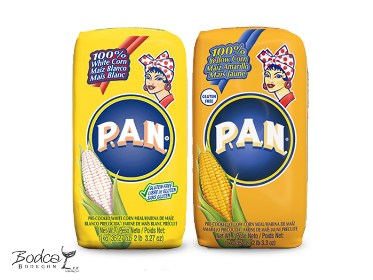 Harina P.A.N maíz blanco y maíz amarillo