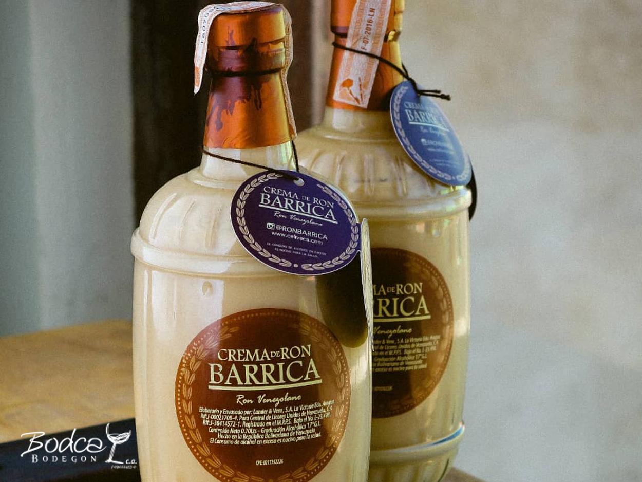 Crema de ron Barrica botellas