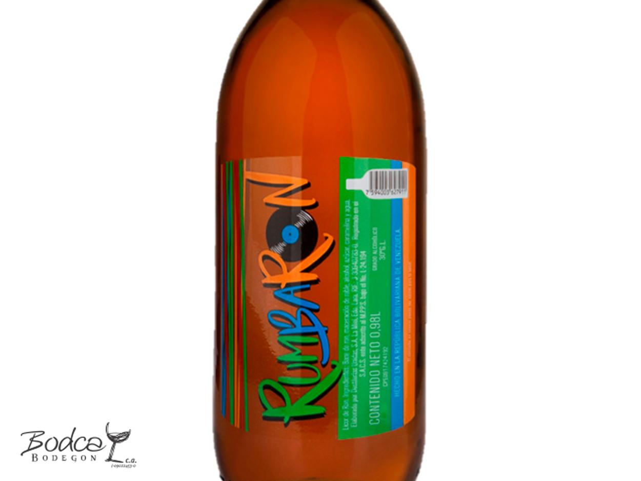 Licor de ron Rumbaron - etiqueta