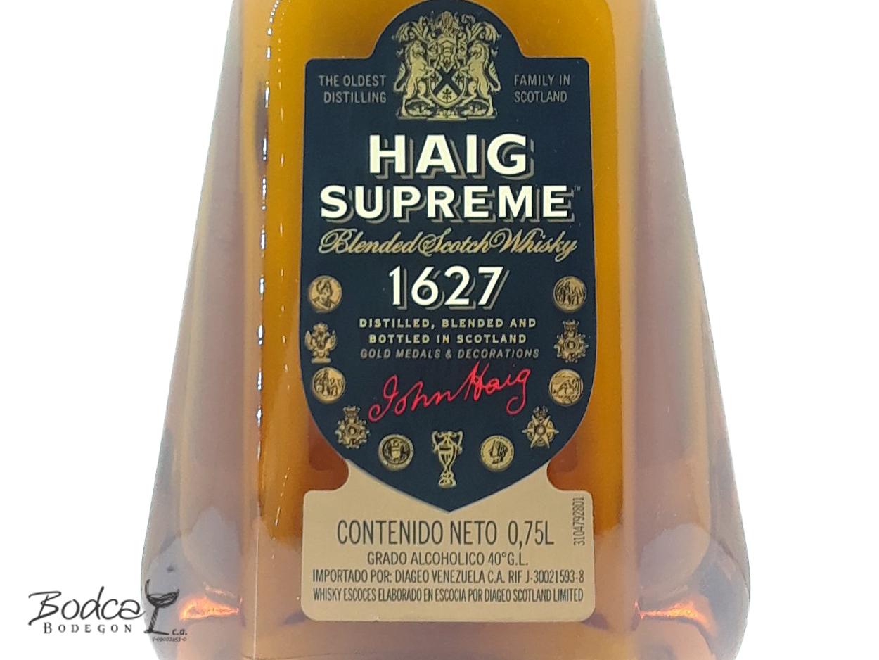 Haig Supreme etiqueta